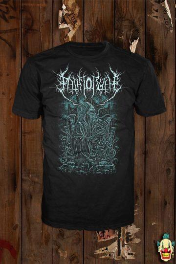 "The ""Elder"" design shown on a black t-shirt"