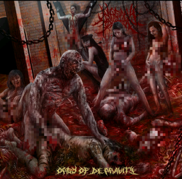Orgy of Depravity cover art sensored