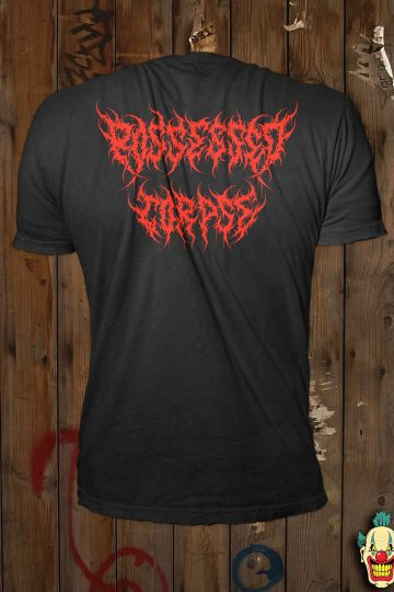 The back of the Possessed Corpse t-shirt