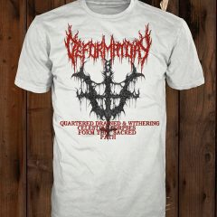 Mockup of the t-shirt design on a white shirt