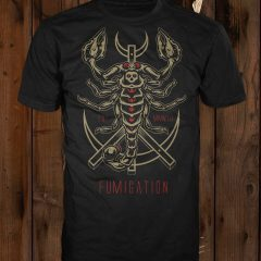 Scorpion design on a black t-shirt