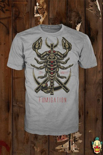 Scorpion design on a sports grey t-shirt