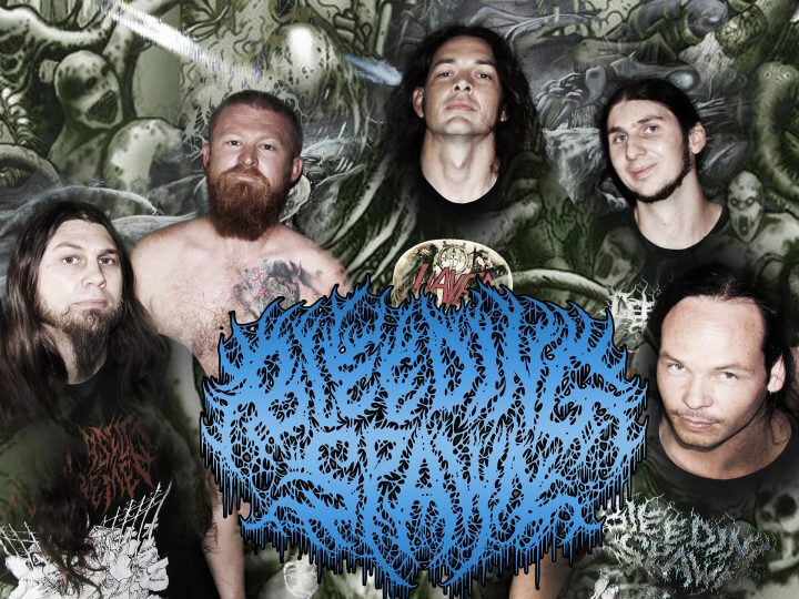 The members of Bleeding Spawn in 2019