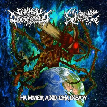 Cover art for Hammer and Chainsaw split CD