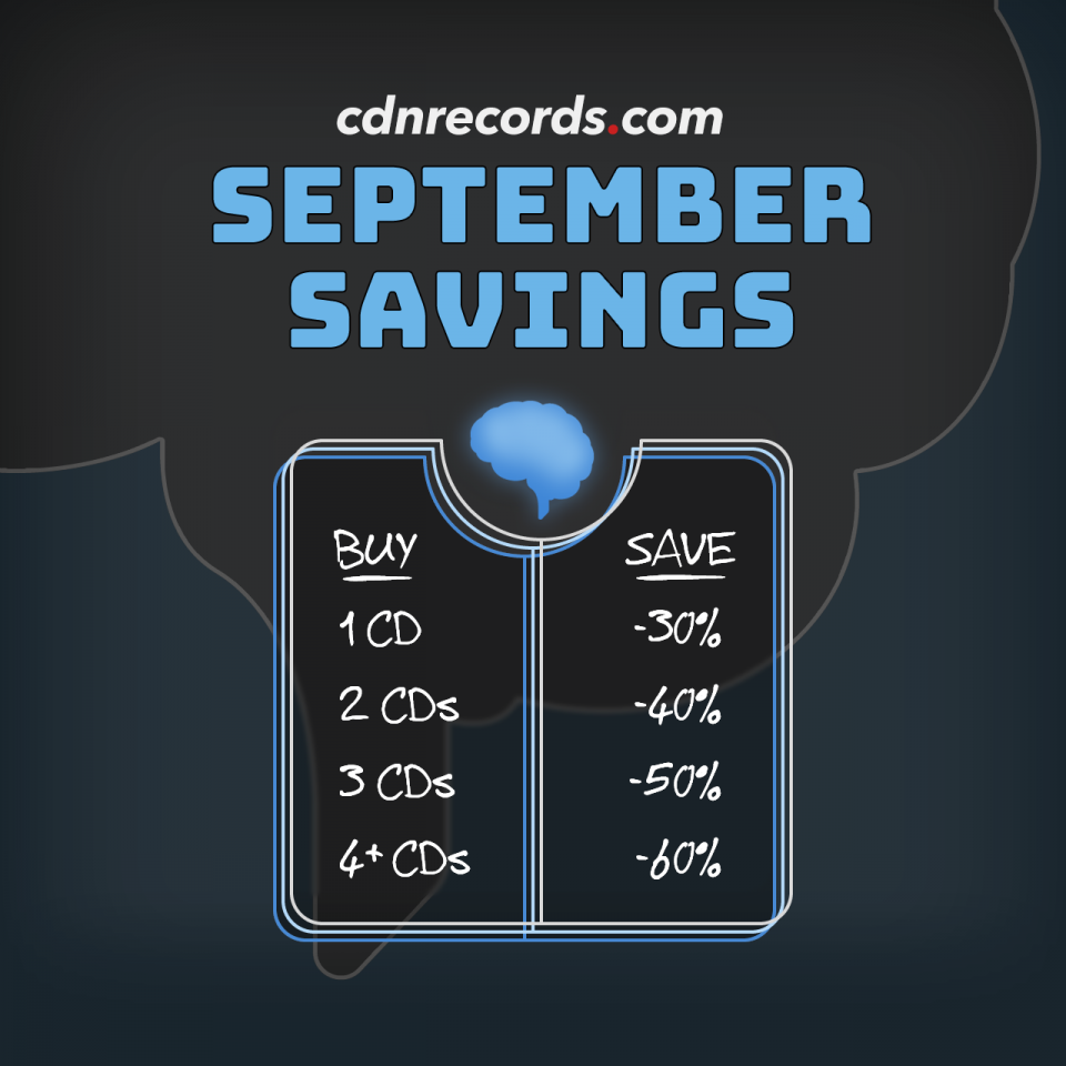 promo graphic for september savings on CDs