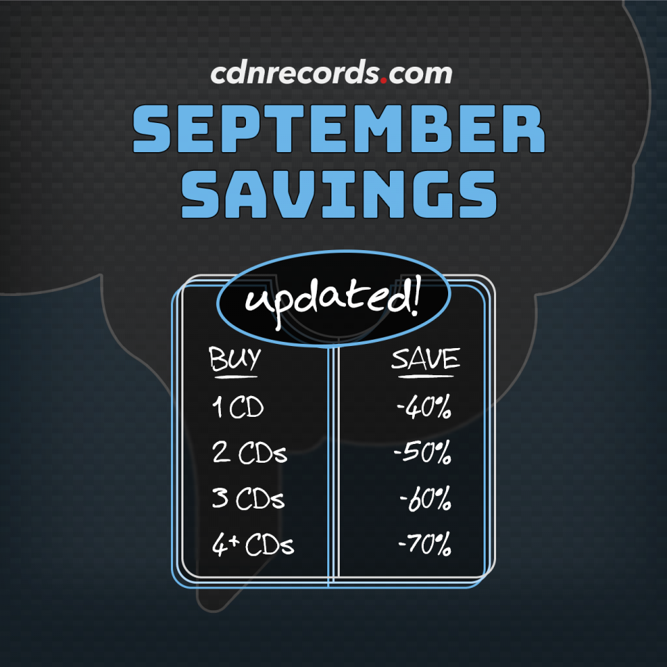 promo graphic for updated september savings on CDs