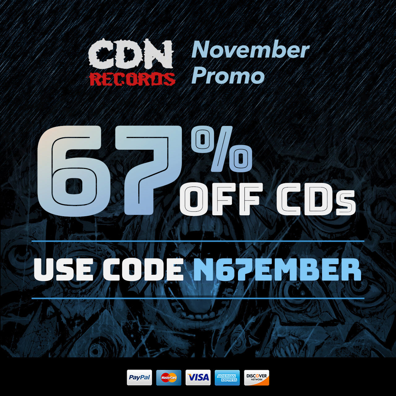 promo graphic for coupon code N67EMBER