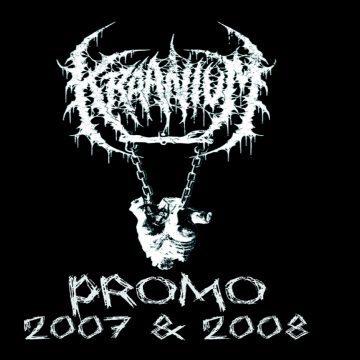 Black cover art for Kraanium 2007 2008 demo cassette re-issue