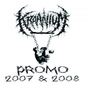 White cover art for Kraanium 2007 2008 demo cassette re-issue