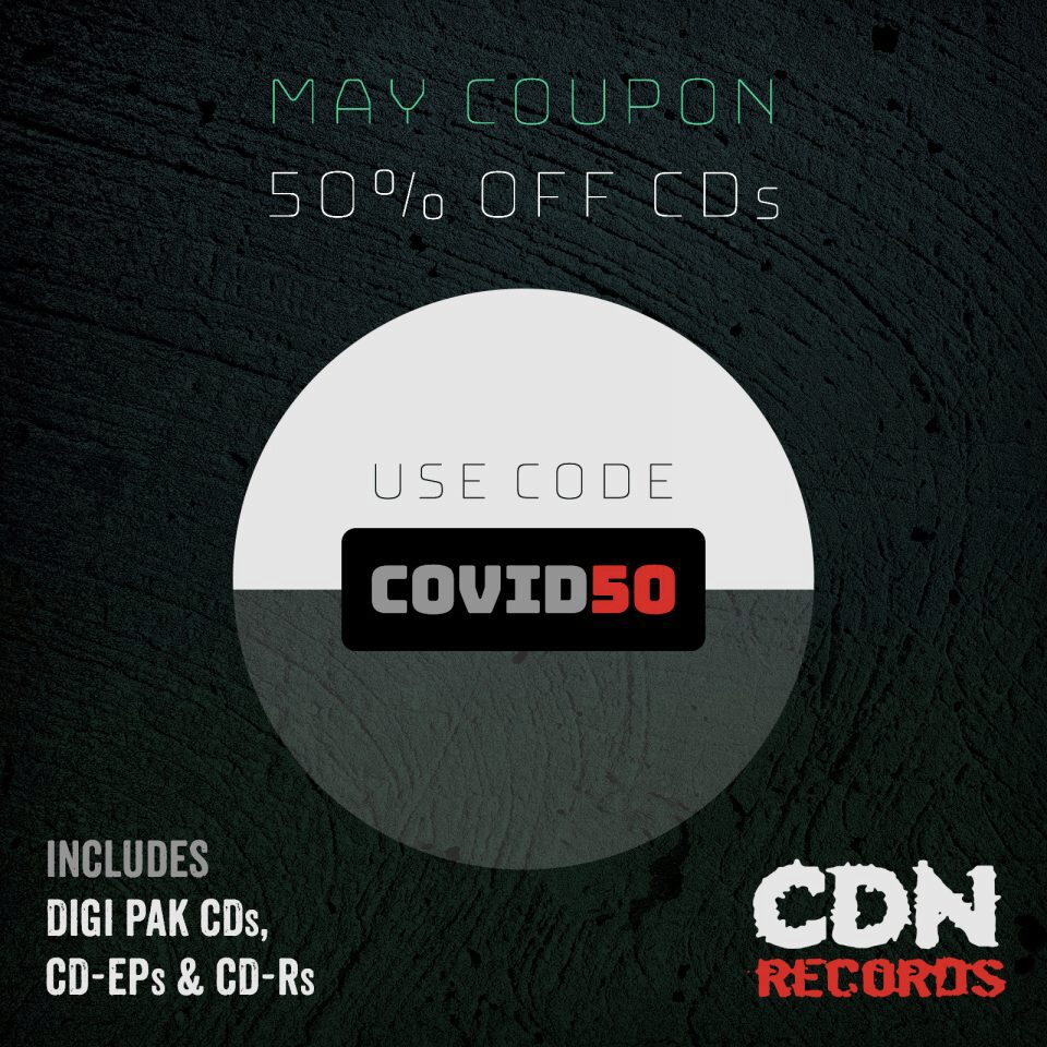 Promo graphic for COVID50 coupon