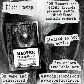 Master - Witch Hunt tape promo graphic
