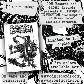 Promo graphic for Grotesque Infection cassette release