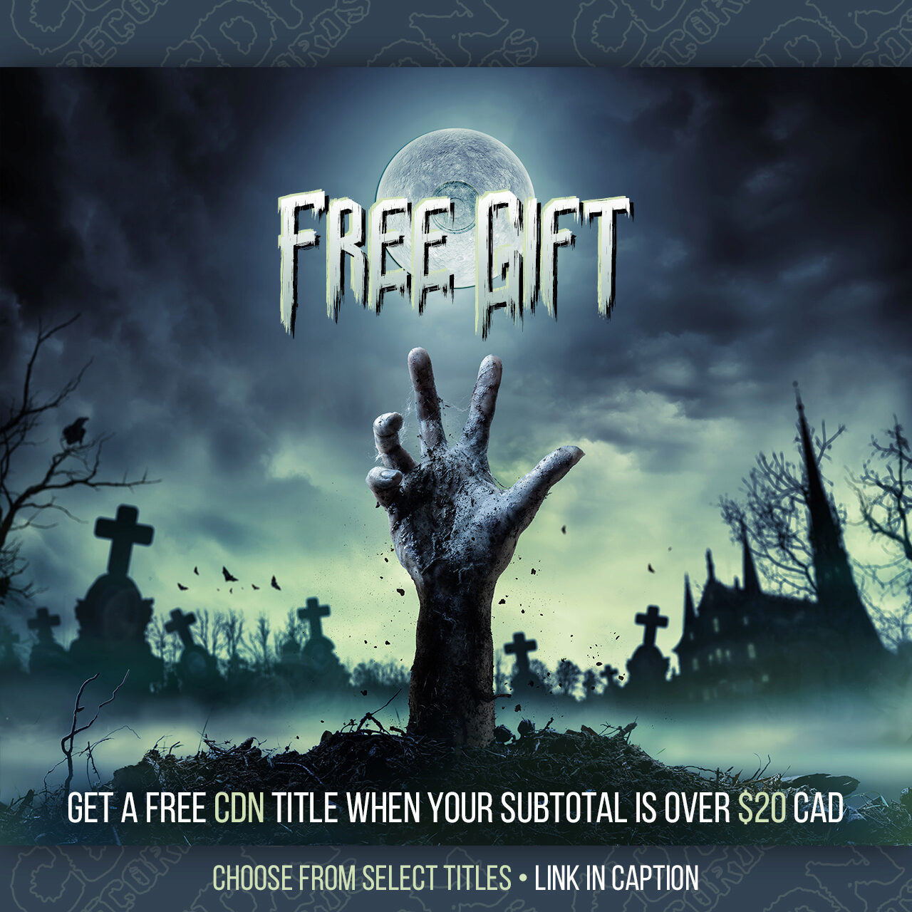 promo graphic for the Free Gift offer
