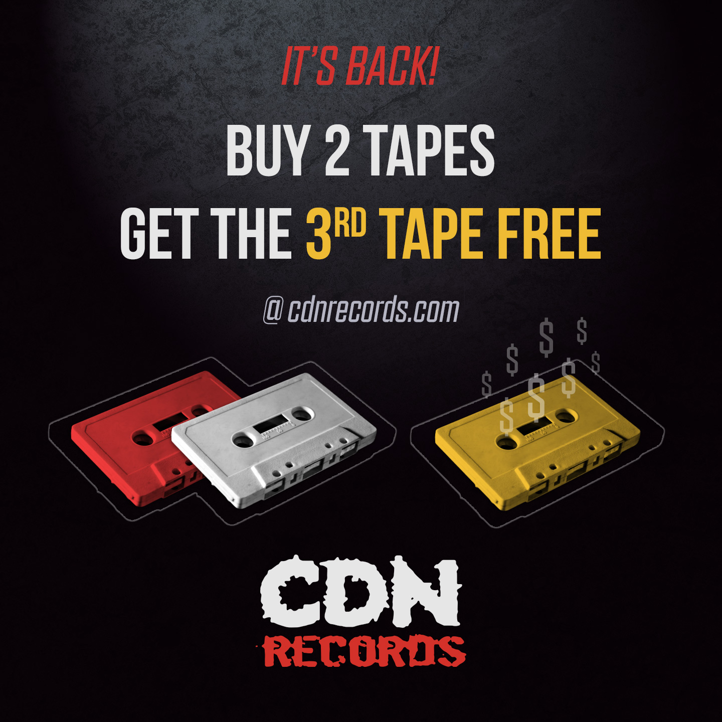 Graphic for Buy 2 Tapes Get 3rd Free promo