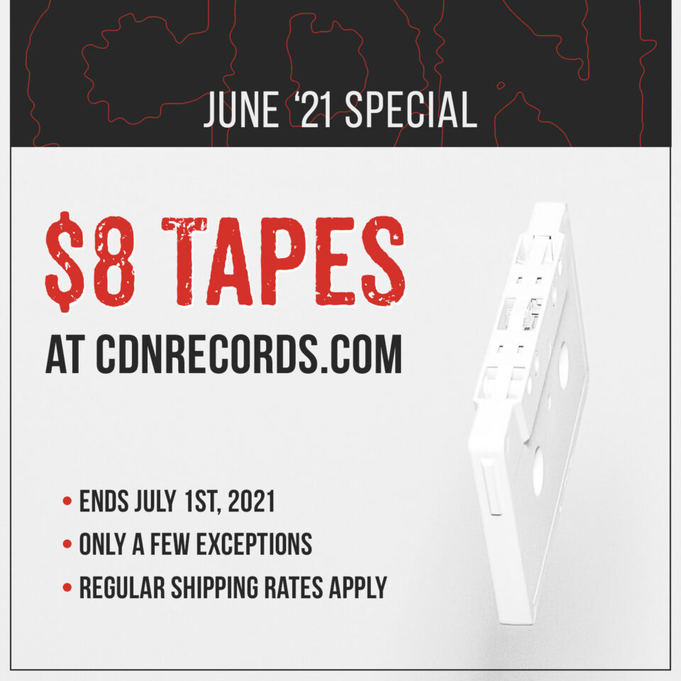 Promo graphic for $8 tapes