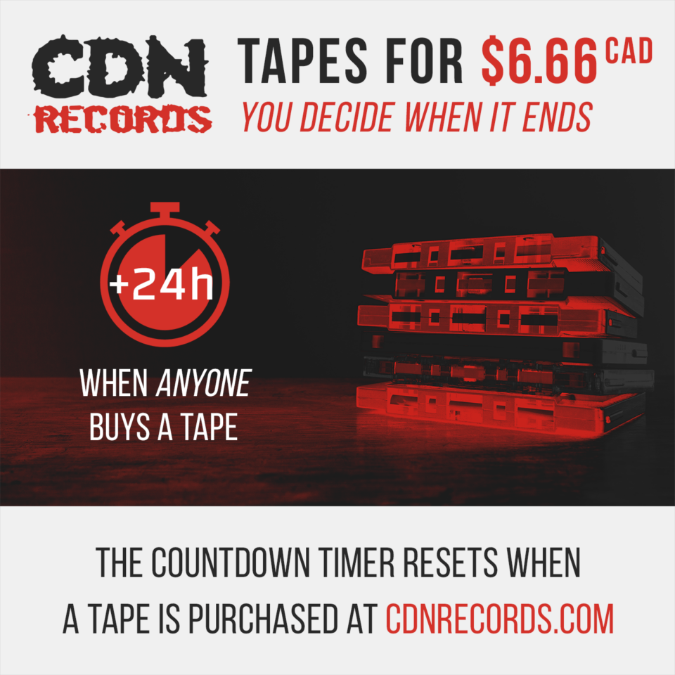 Promo for timed tape sale