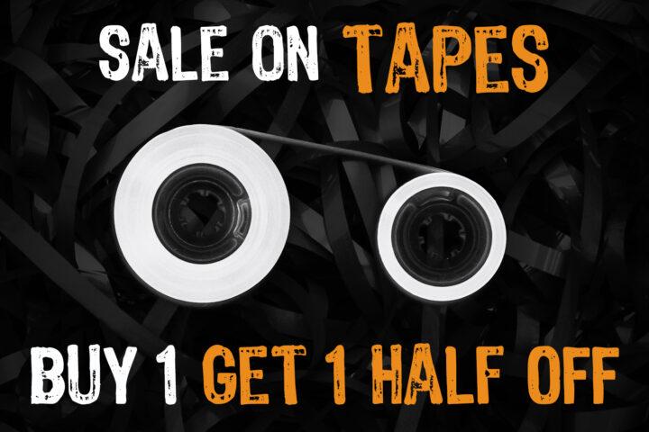 Buy 1 Tape, Get 1 Half Off