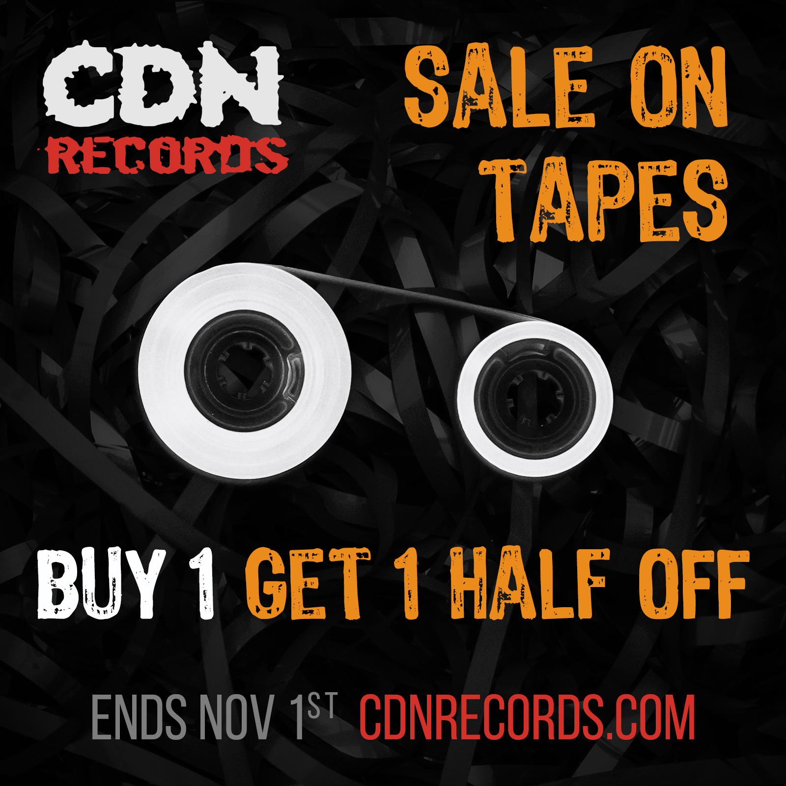 Graphic for October tape sale