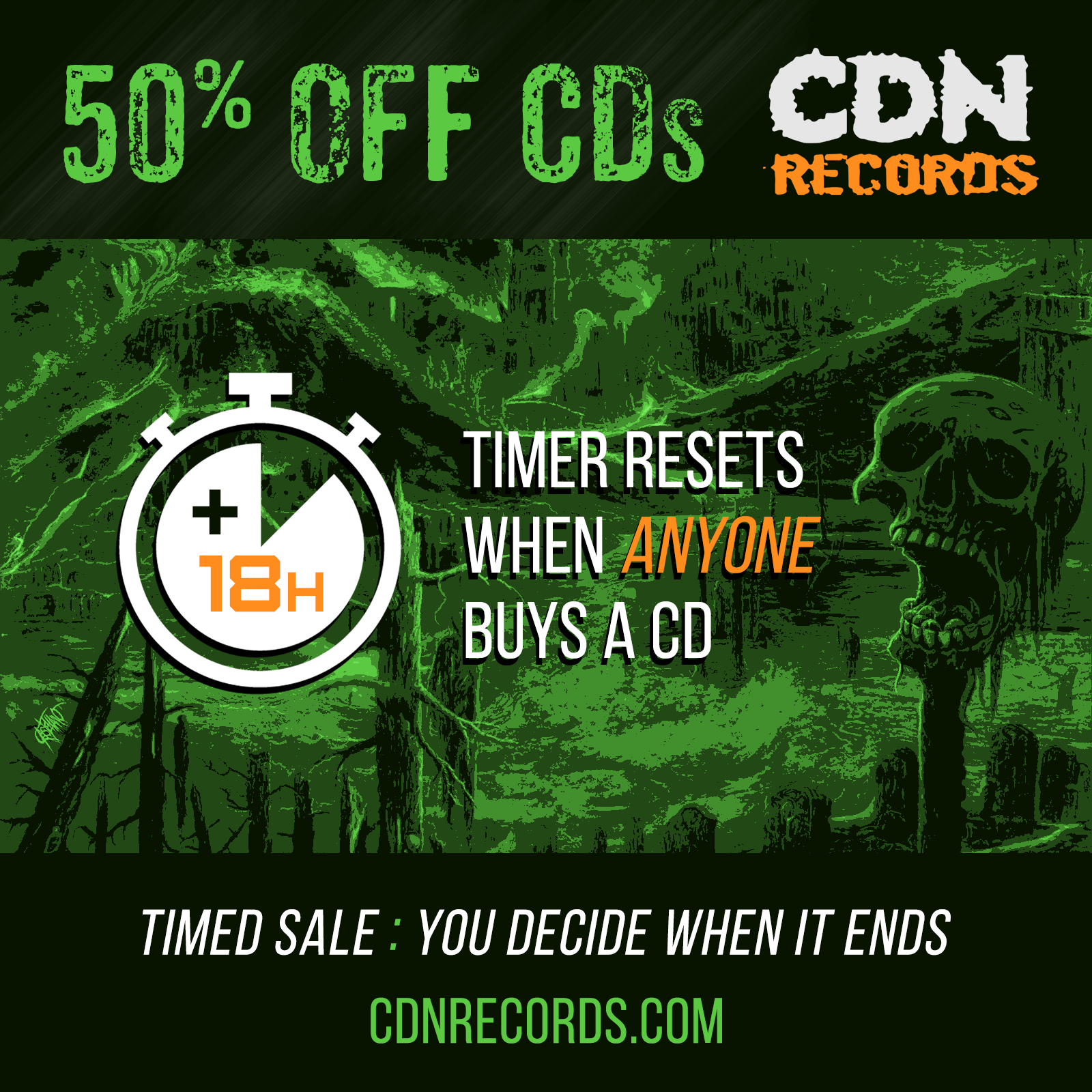 Graphic for 50% Off Timed Sale